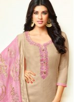 Grey Embroidered Party Designer Palazzo Suit