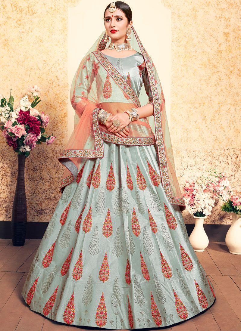 Grey Thread Designer Lehenga Choli