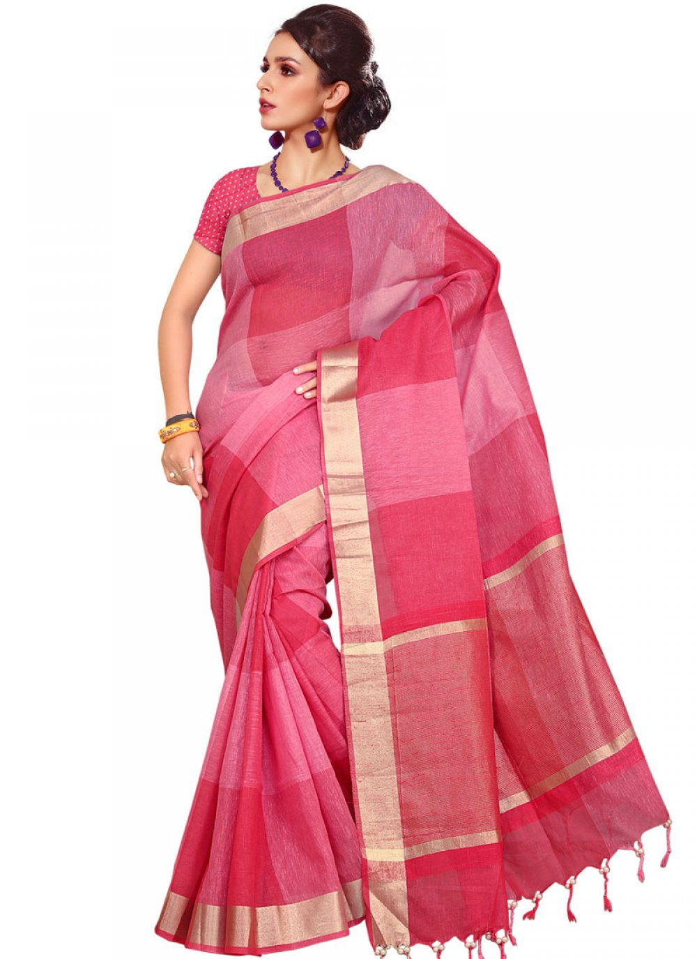 Handloom silk Traditional  Saree