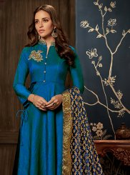 Handwork Blue Readymade Gown