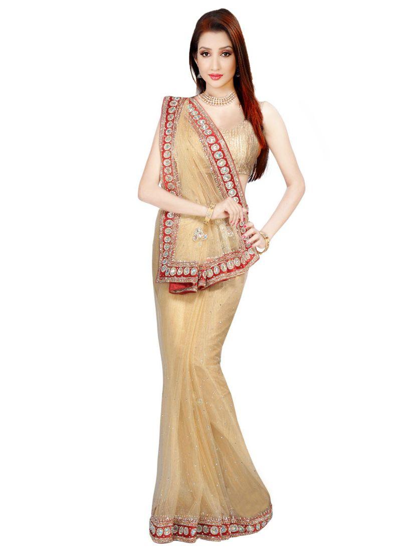 Handwork Work Net Designer Bridal Sarees