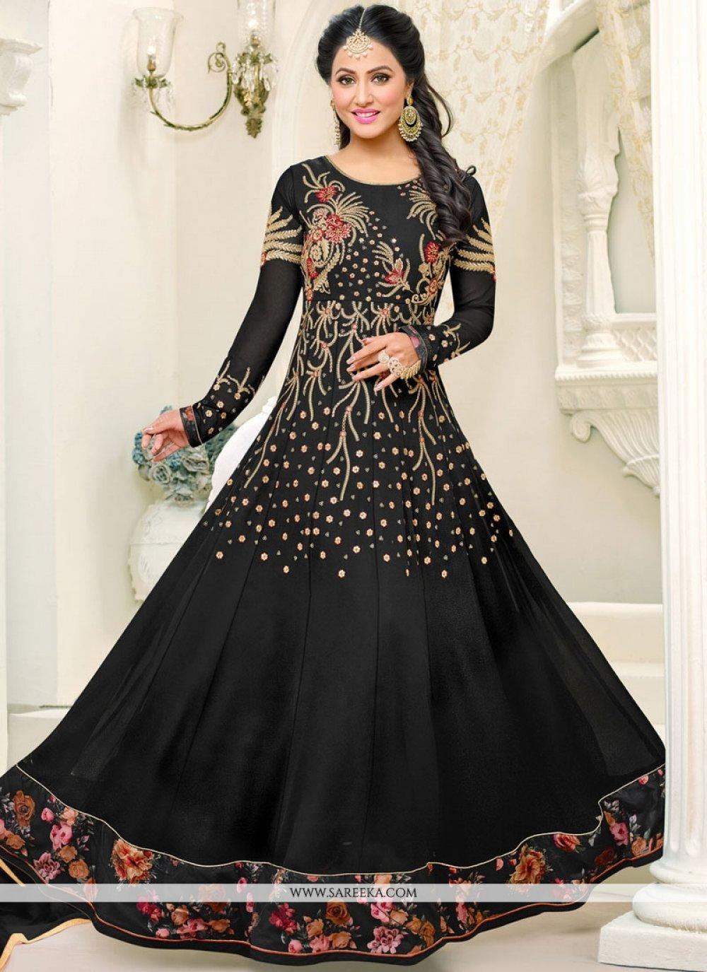 Hina Khan Resham Work Floor Length Anarkali Suit