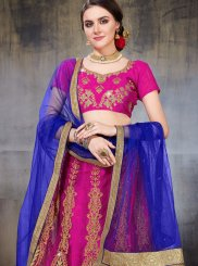 Hot Pink Net Mehndi Lehenga Choli