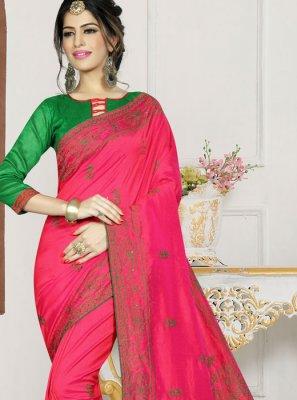Hot Pink Trendy Saree