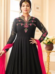 Incredible Black Colored Anarkali Suit