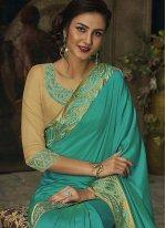 Jacquard Sea Green Classic Designer Saree