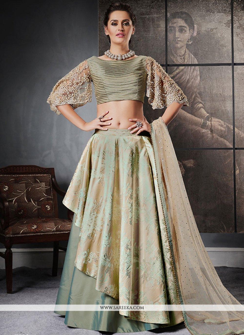 Jacquard Silk Fancy work Work Lehenga Choli