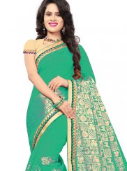Jacquard Silk Green Classic Saree