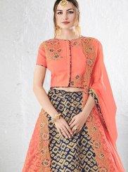 Jacquard Silk Resham Work Lehenga Choli