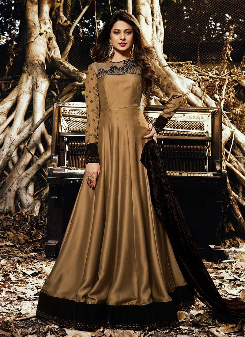 Jennifer Winget Art Silk Floor Length Anarkali Suit