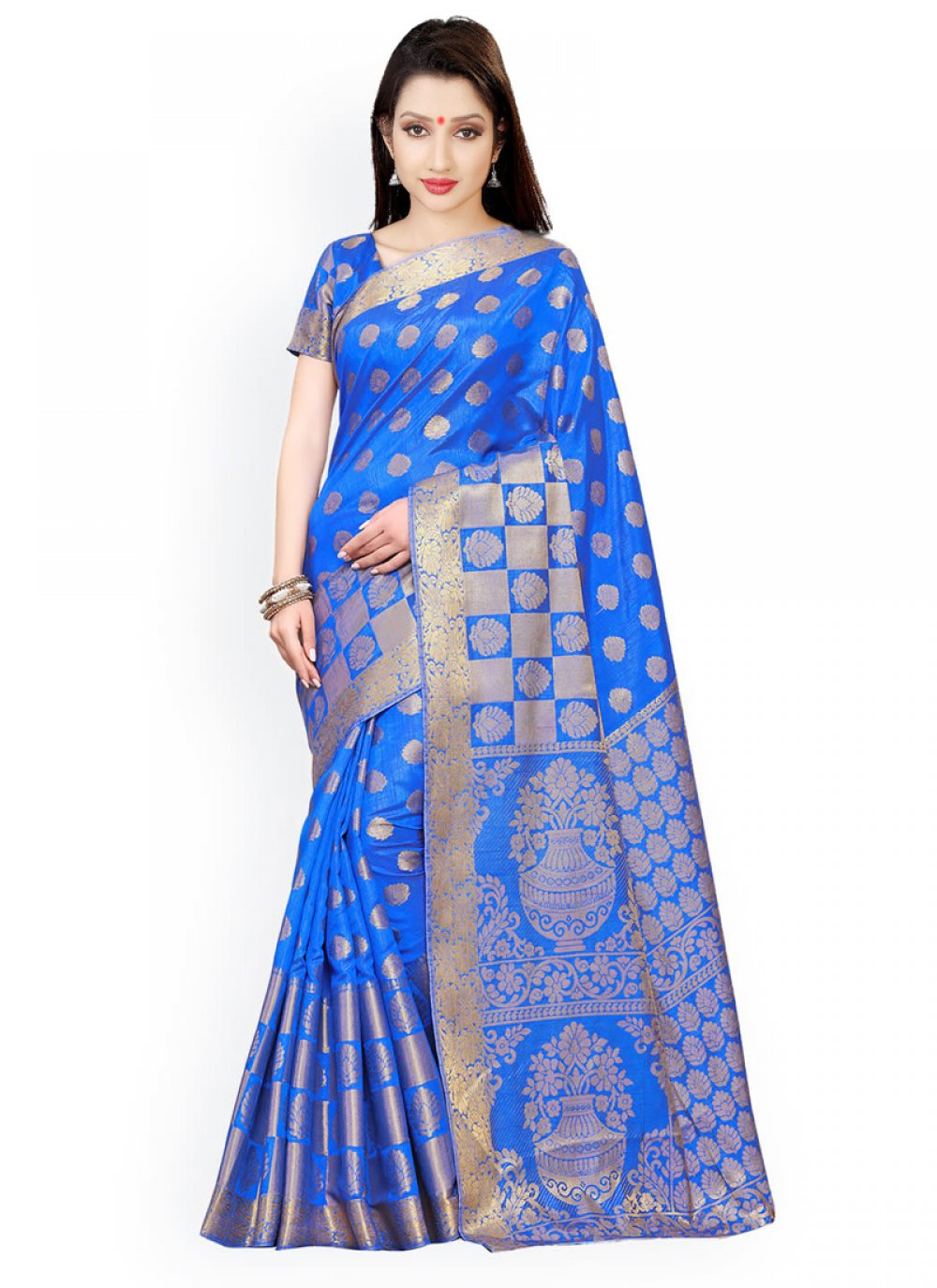 Kanchipuram silk Weaving Work Classic Designer Saree