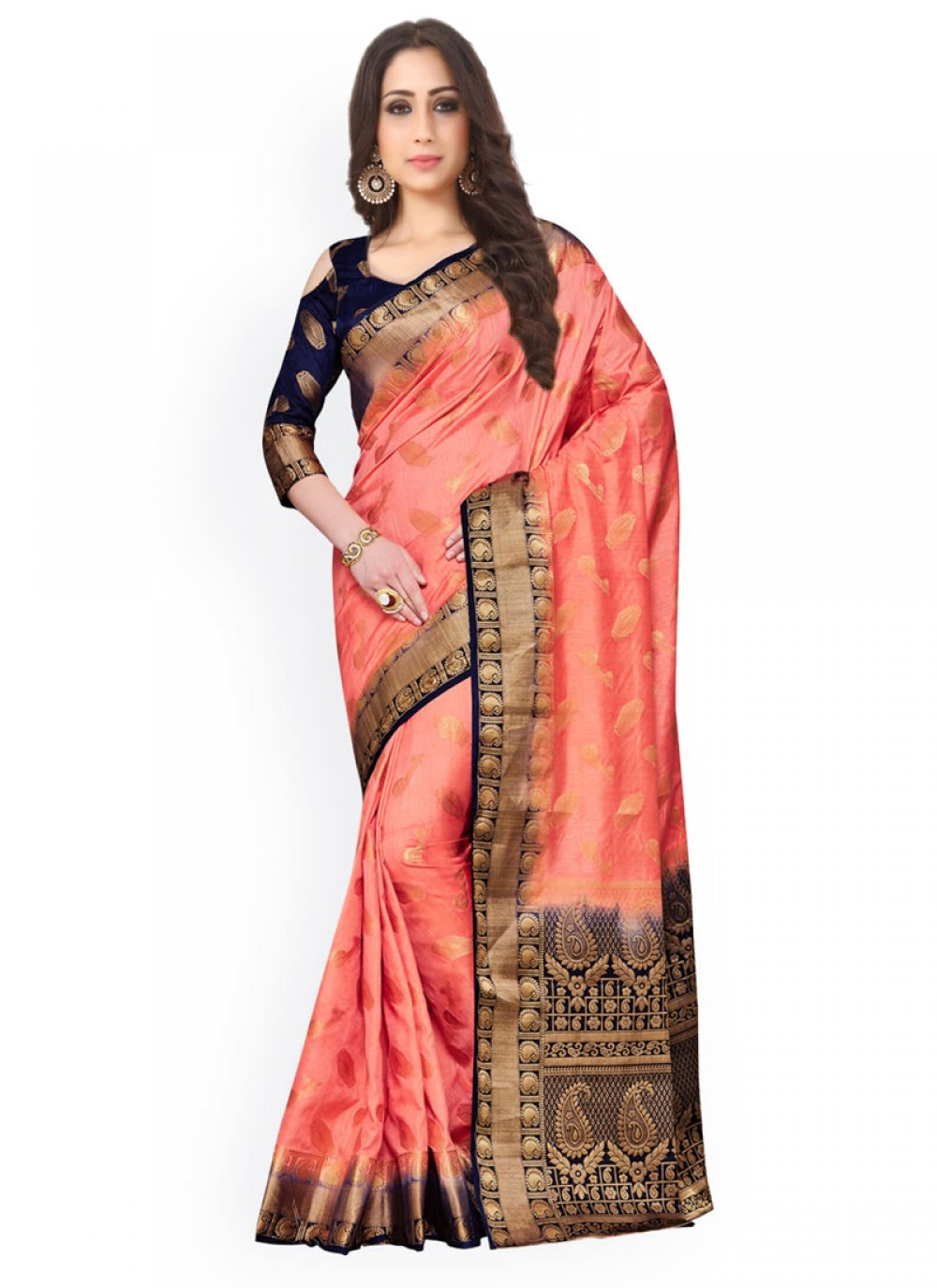 Kanchipuram silk Weaving Work Classic Saree