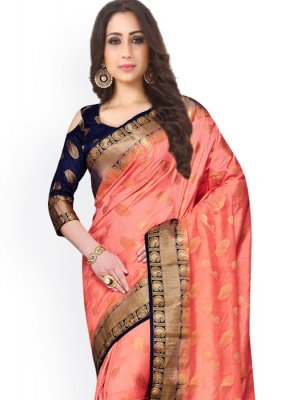 Kanchipuram silk Weaving Work Classic Saree