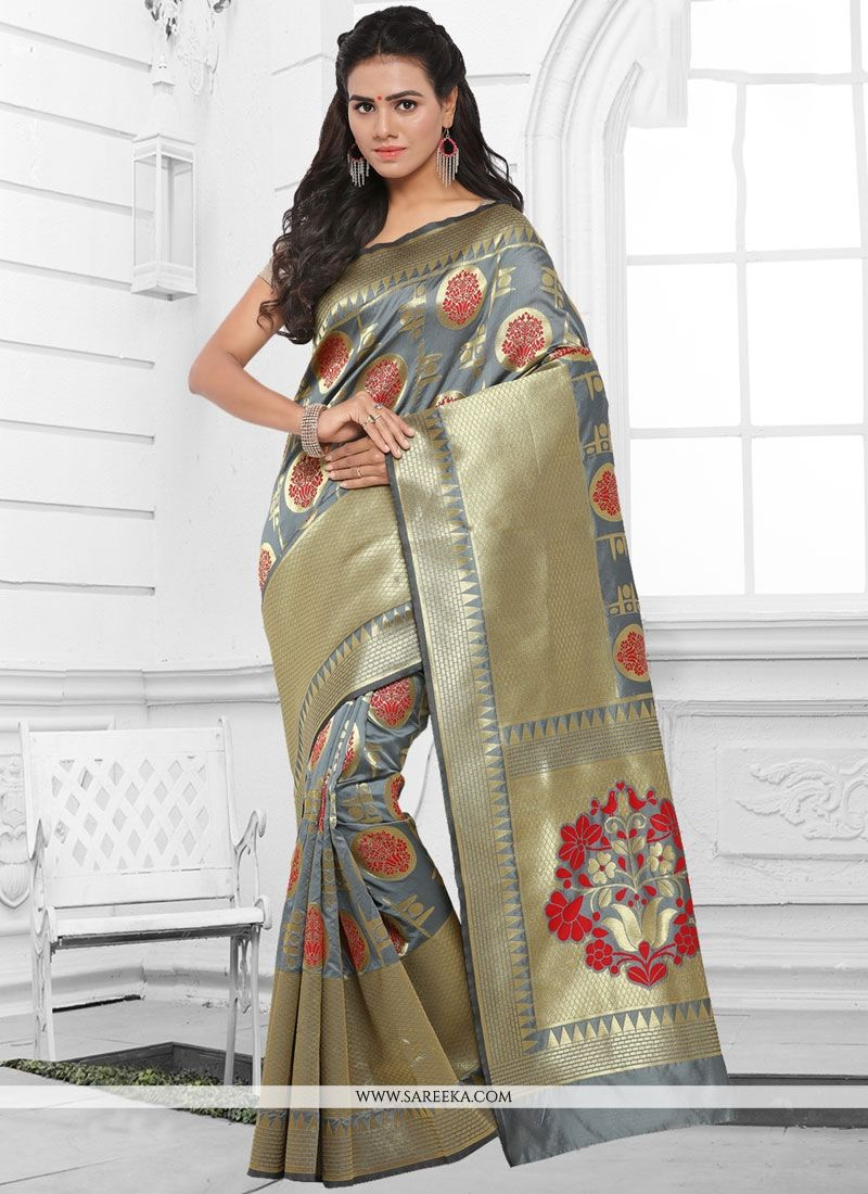 Kanchipuram silk woven Work Traditional  Saree
