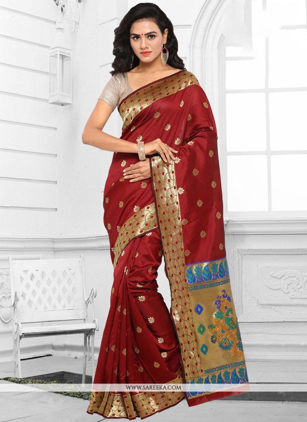Kanchipuram silk woven Work Traditional  Saree