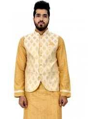 Kurta Payjama With Jacket For Mehndi