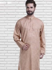 Kurta Pyjama Plain Polly Cotton in Brown