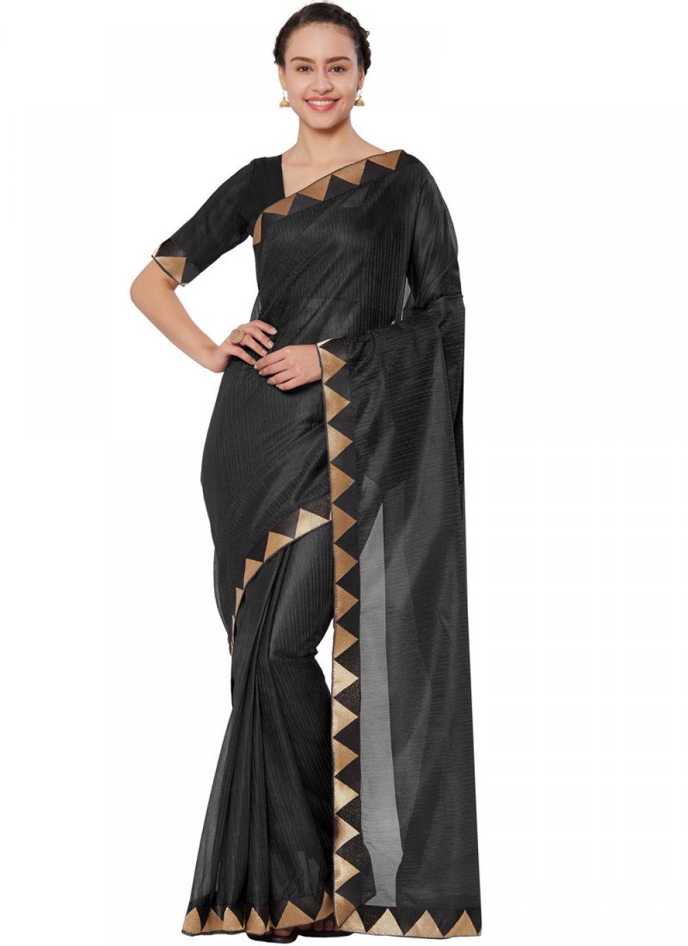 Lace Black Casual Saree