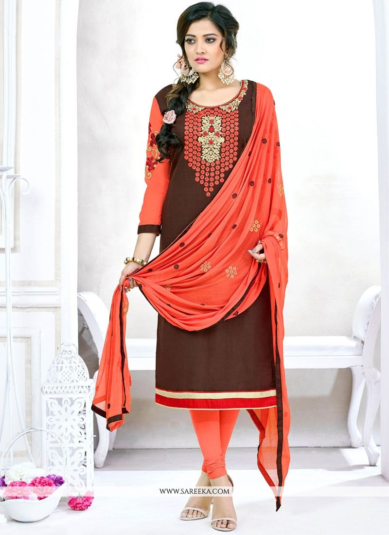 Lace Work Churidar Suit