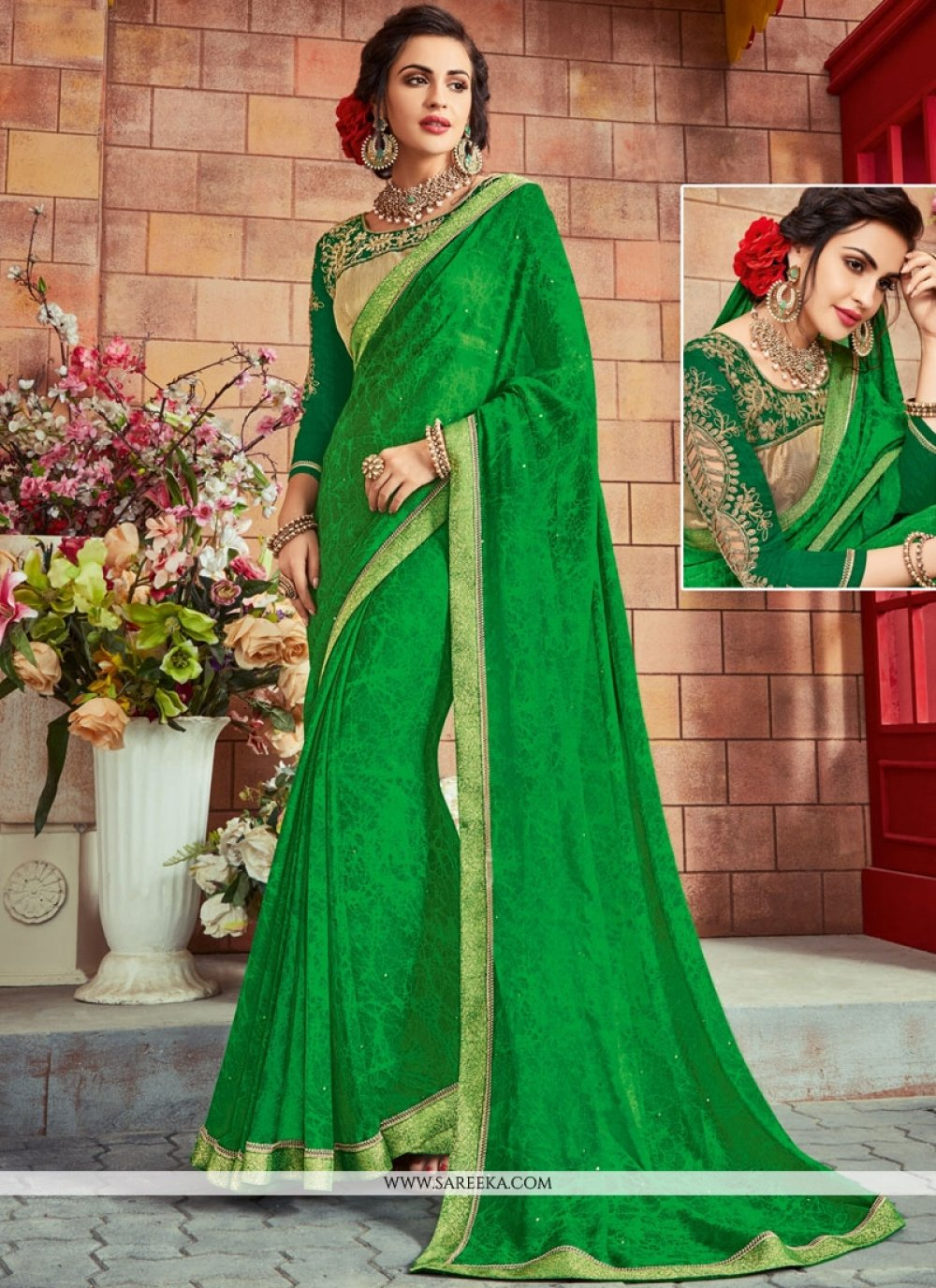 Lace Work Classic Designer Saree