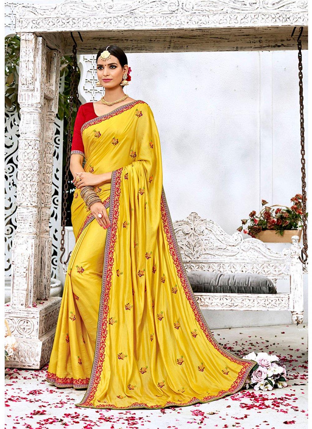 Lace Work Contemporary Saree