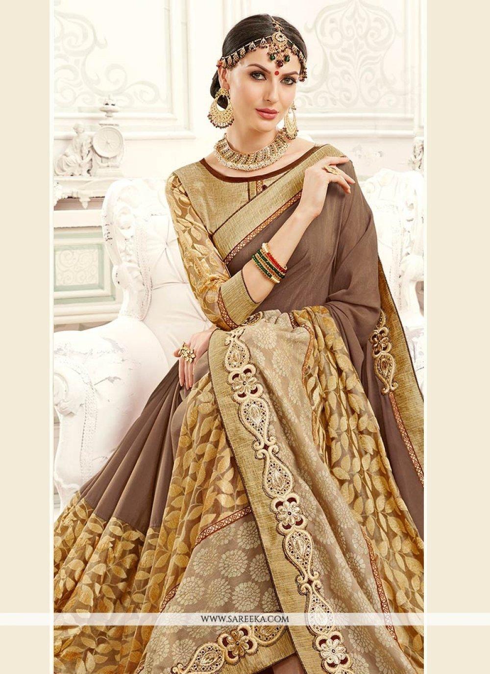 Lace Work Jacquard Classic Saree