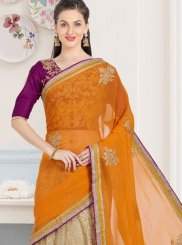 Lace Work Net Casual Saree