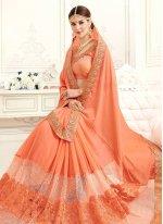 Lace Work Saree