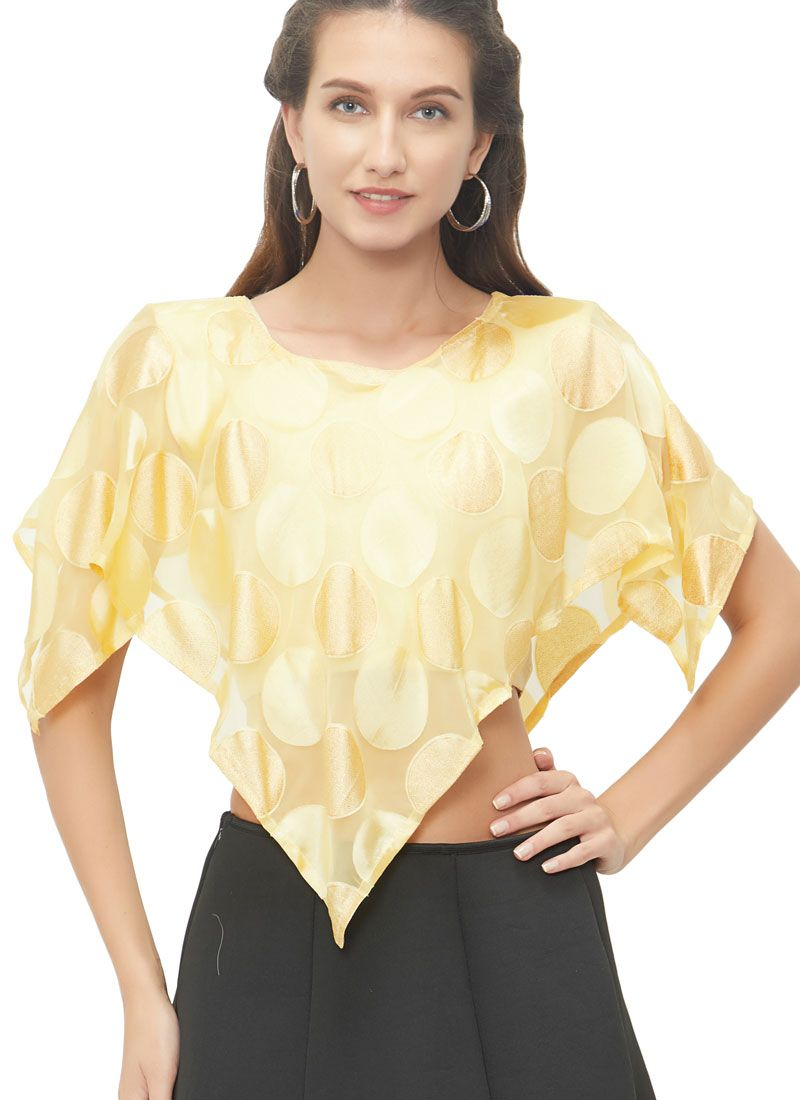 Lovable Gold Color Designer Blouse