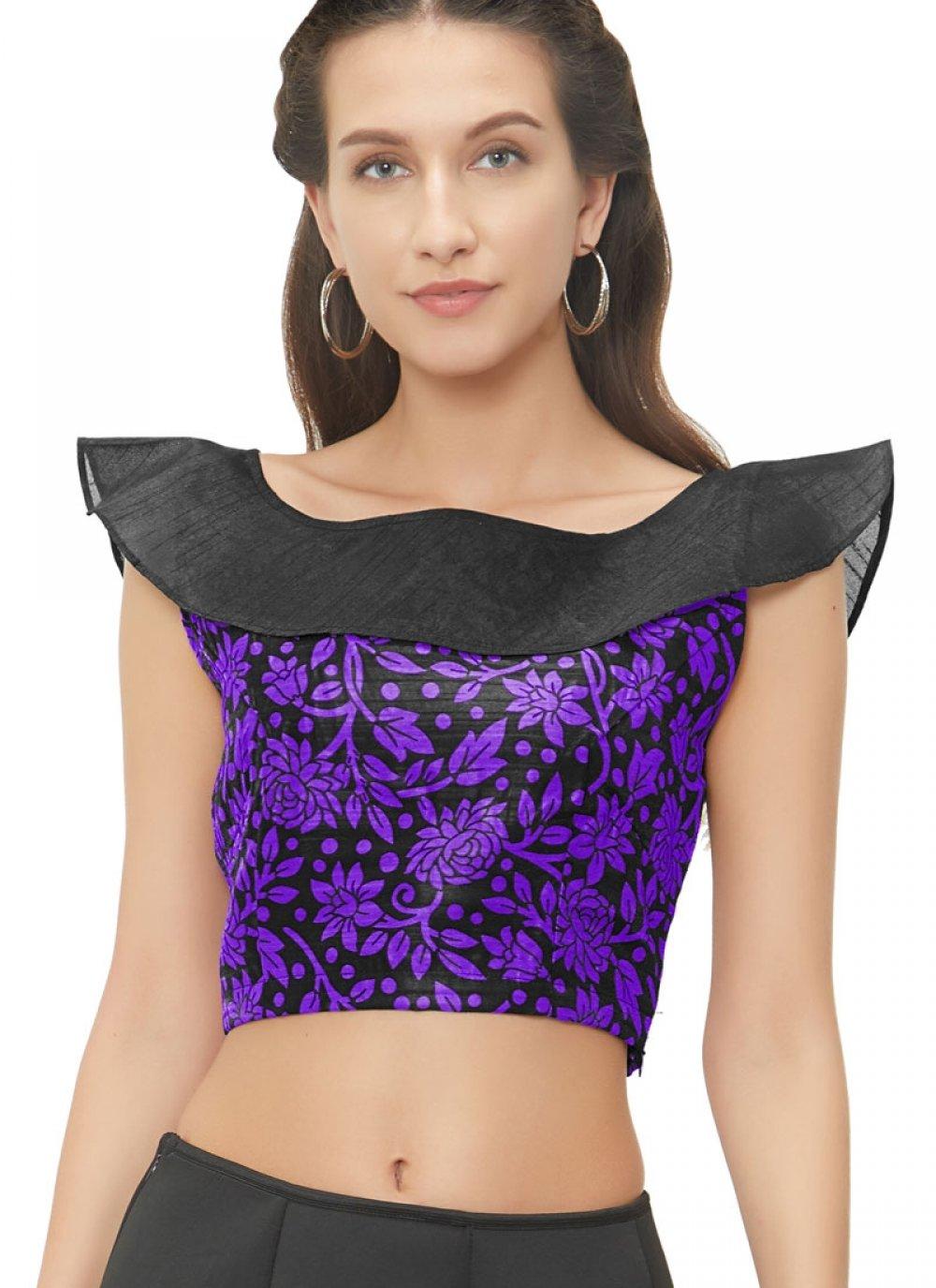 Lovely Purple Color Designer Blouse