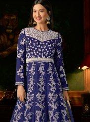Malbari Silk  Mehndi Anarkali Salwar Suit