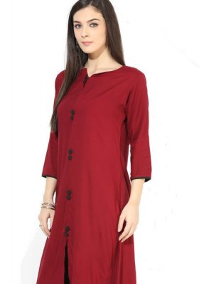 Maroon Casual Party Wear Kurti