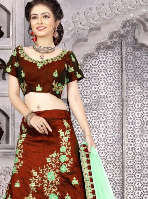 Maroon Embroidered Work Lehenga Choli