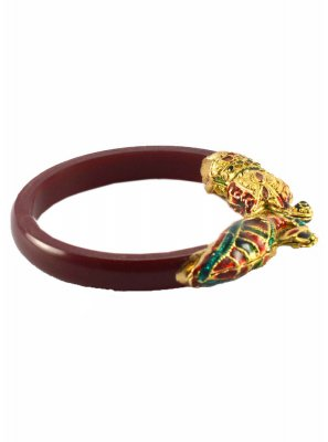 Maroon Reception Bangles