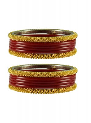 Maroon Stone Work Party Bangles