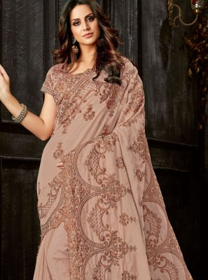 Mauve  Resham Party Classic Designer Saree