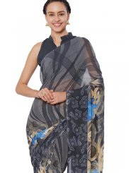 Multi Colour Abstract Print Casual Saree