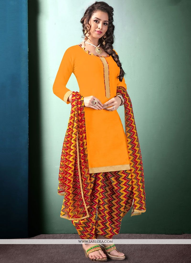 4e6b5bcea1 Buy Multi Colour and Yellow Printed Work Work Pure Chiffon Punjabi Suit  Online : 73847 -