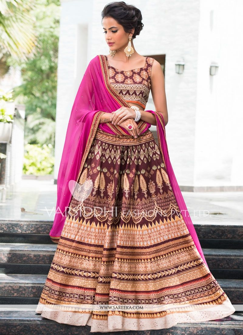 Multi Colour Art Silk Lehenga Choli