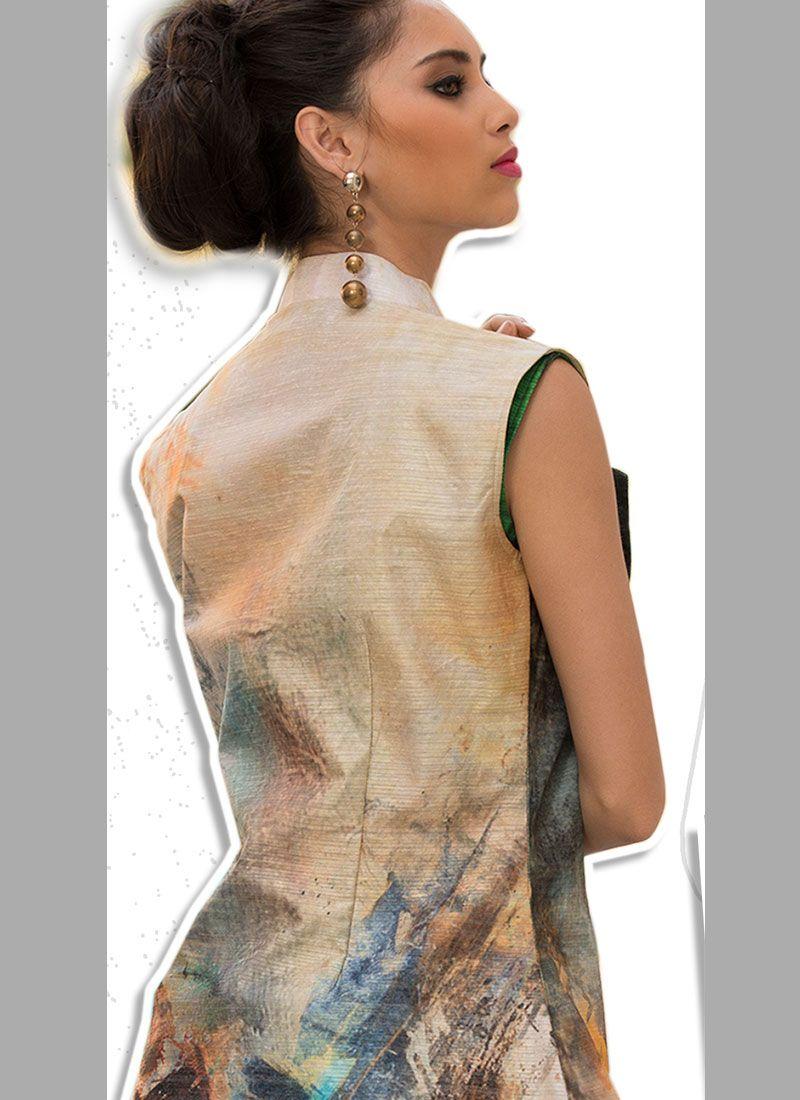 b370783fc4 Shop Multi Colour Art Silk Party Designer Gown Online : 88865 -