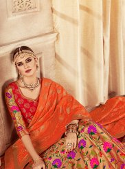 Multi Colour Banarasi Silk Lehenga Choli
