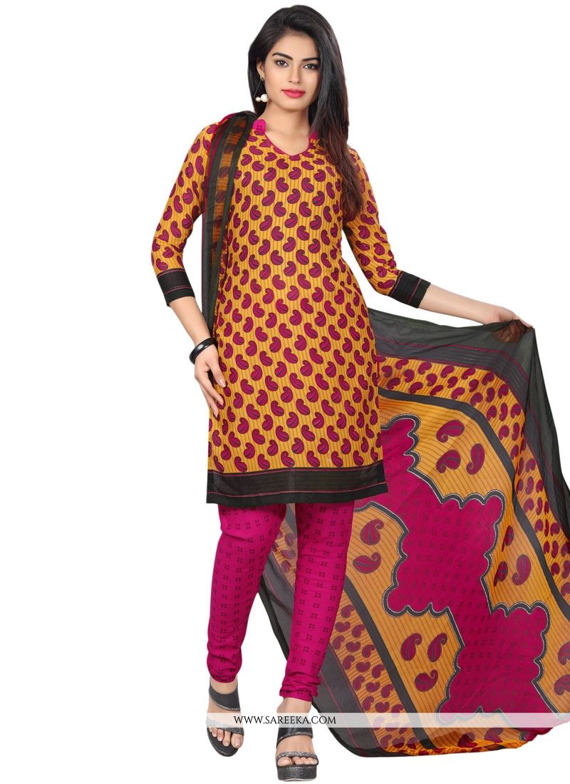 Multi Colour Churidar Suit