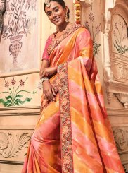 Multi Colour Embroidered Trendy Saree