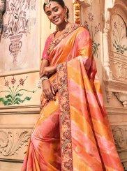Multi Colour Embroidered Trendy Saree