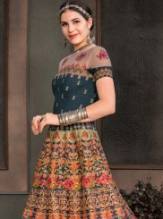 Multi Colour Fancy Fabric Designer Gown