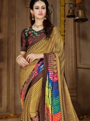 Multi Colour Faux Georgette Casual Printed Saree