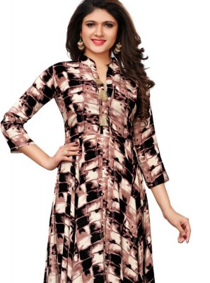 Multi Colour Party Party Wear Kurti