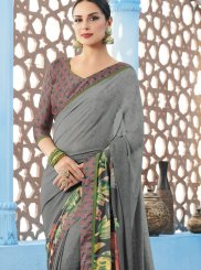 Multi Colour Print Printed Saree
