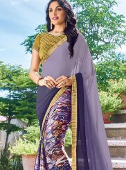 Multi Colour Printed Work Casual Saree