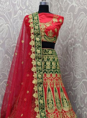 Multi Colour Resham Lehenga Choli